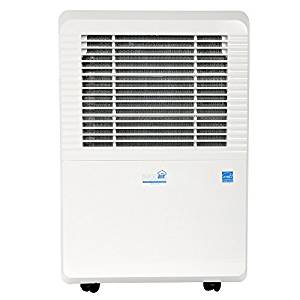 • Ideal-Air Dehumidifier | 80 Pint | Portable, LED Display w/ Dehumidistat and Timer Included - Perfect for home, office, garage, shop, marine and RV applications - UL Listed.